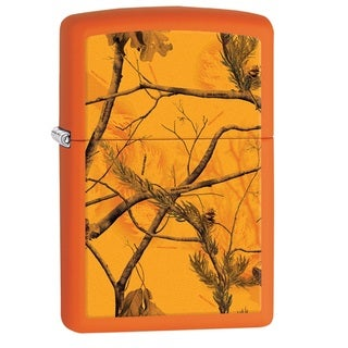 Zippo Orange Multi Realtree AP Blaze Pocket Lighter