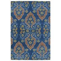 Hand-Tufted Seldon Blue Damask Rug (2'0 x 3'0) - 2' x 3'