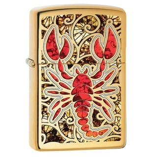 Zippo Scorpion Shell Multicolor Pocket Lighter