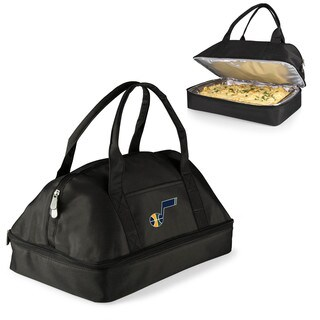 Picnic Time Utah Jazz Black Aluminum and Polyester Two-tiered Insulated Casserole Tote