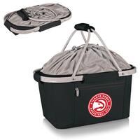 Picnic Time Atlanta Hawks Metro Black Polyester/Aluminum/Plastic Basket Collapsible Tote