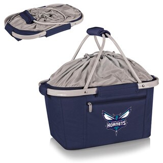 Picnic Time Charlotte Hornets Navy Polyester/Aluminum/Plastic Metro Basket Collapsible Tote