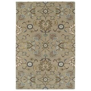 "Hand-Tufted Perry Kashan Mushroom Wool Rug (5'0 x 7'9"")"