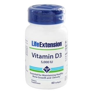 Life Extension Vitamin D3 60 Softgels 5,000 IU Dietary Supplement