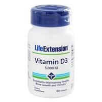 Life Extension Vitamin D3 60 Softgels 5,000 IU Dietary Supplement