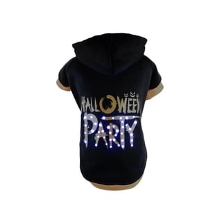 Pet Life LED Black Halloween Dog Sweater