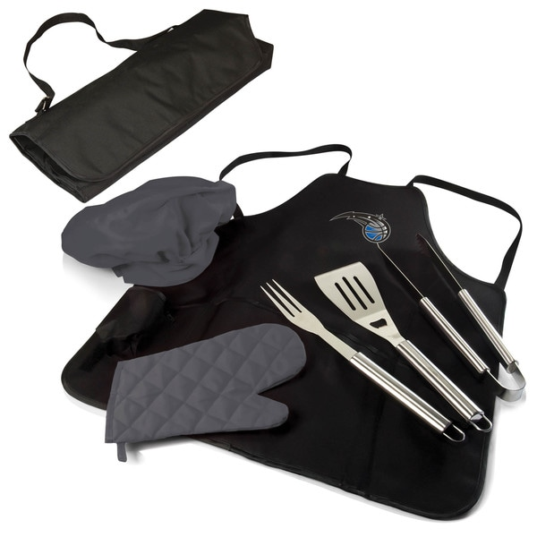 Picnic Time Orlando Magic Black/Silver Polyester Stainless Steel BBQ Apron Tote Pro