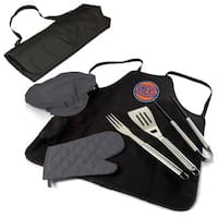 Picnic Time New York Knicks BBQ Apron and Tote Black/Grey Polyester BBQ Set