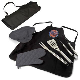 Picnic Time New York Knicks BBQ Apron and Tote Black/Grey Polyester BBQ Set