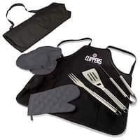 Picnic Time Los Angeles Clippers Black Polyester and Stainless Steel BBQ Apron Tote Pro