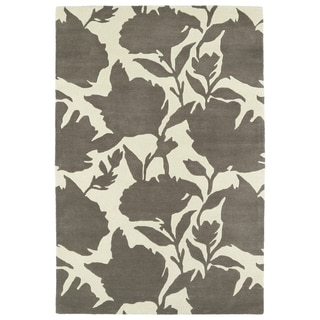 Hand-Tufted Seldon Grey Floral Shadow Rug (3'0 x 5'0) - 3' x 5'