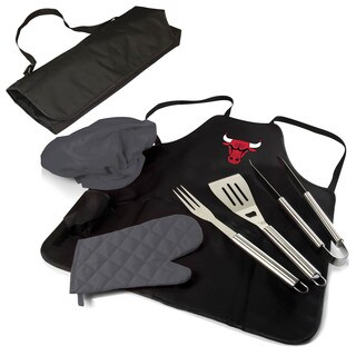 Picnic Time Chicago Bulls Polyester/Stainless Steel BBQ Apron Tote Pro