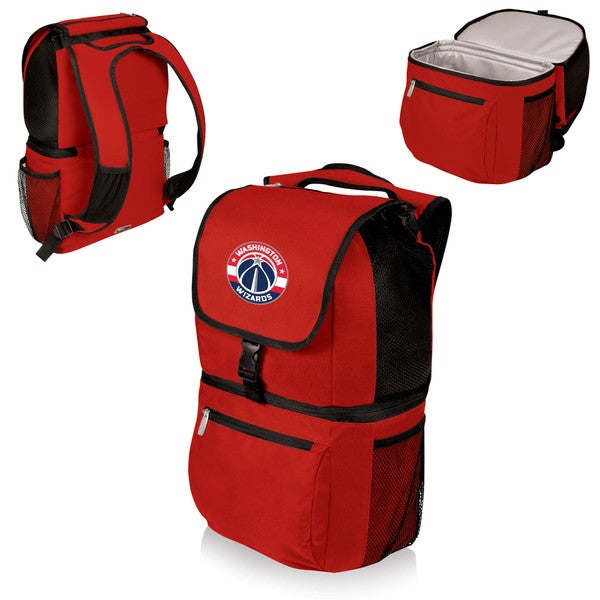 Picnic Time Zuma Red Polyester Washington Wizards Two-section Cooler Backpack