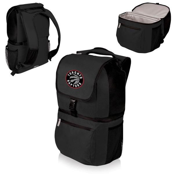 Picnic Time Toronto Raptors Black Plastic and Polyester Zuma Cooler Backpack