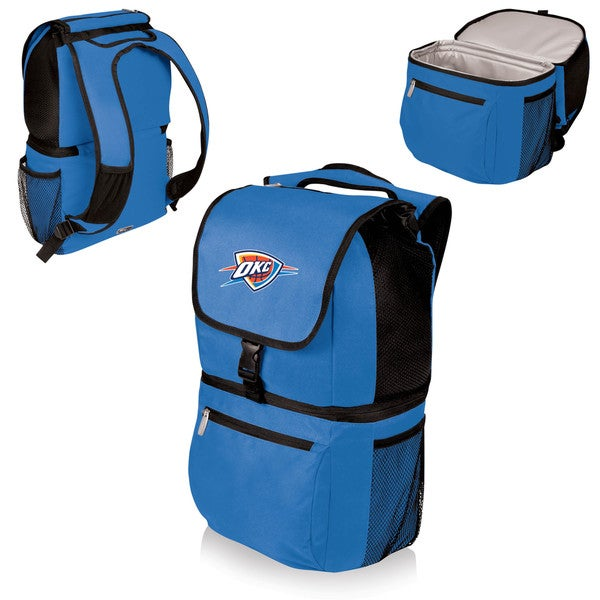 Picnic Time Oklahoma City Thunder Blue Polyester and Plastic Zuma Cooler Backpack