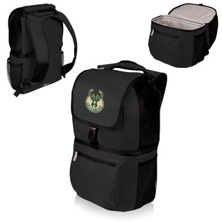 Picnic Time Milwaukee Bucks Black Polyester Zuma Cooler Backpack
