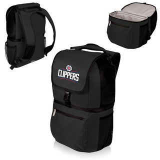Picnic Time Zuma Los Angeles Clippers Black Polyester and Plastic Cooler Backpack