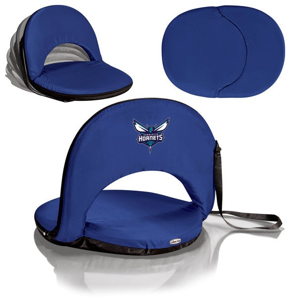 Picnic Time Charlotte Hornets Navy Oniva Seat Portable Recliner Chair