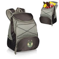 Picnic Time Milwaukee Bucks Black PTX Backpack Cooler