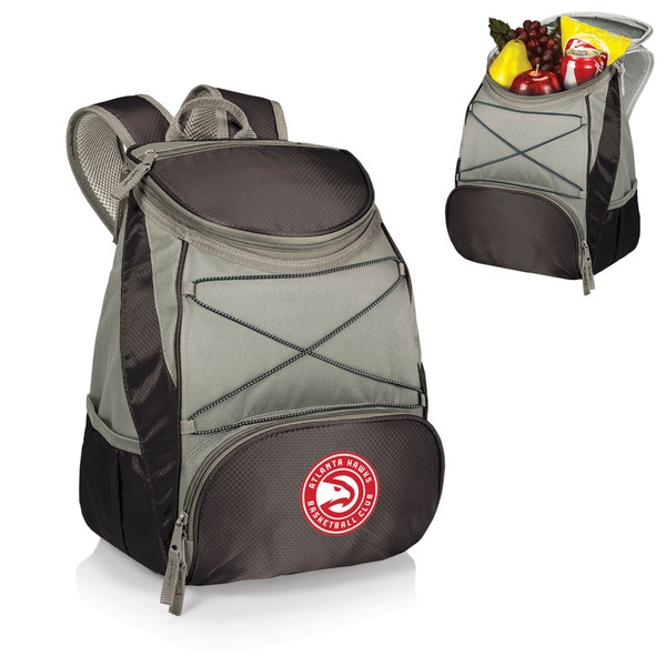 Picnic Time Atlanta Hawks PTX Black Polyester Backpack Cooler