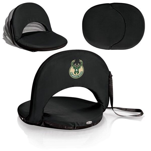 Picnic Time Milwaukee Bucks Black Polyester Metal Unisex Oniva Seat Portable Recliner Chair