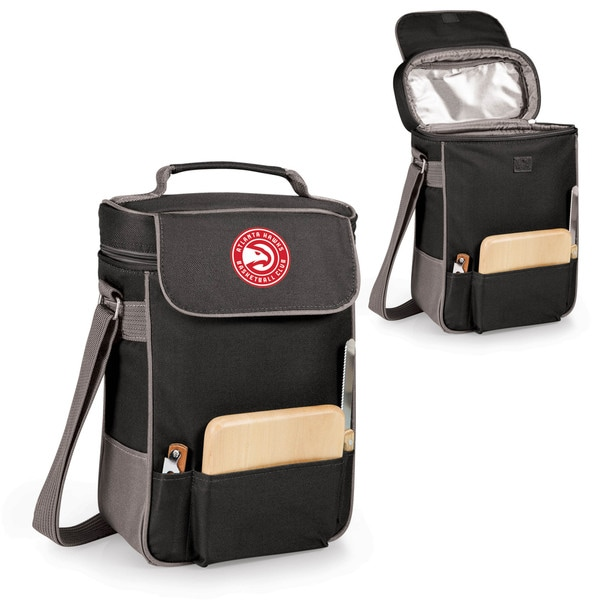 Picnic Time Duet Atlanta Hawks Black Polyester Wine and Cheese Tote