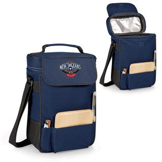 Picnic Time New Orleans Pelicans Blue Polyester Duet Wine and Cheese Tote