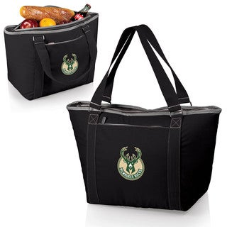 Picnic Time Milwaukee Bucks Black Plastic and Polyester Topanga Cooler Tote