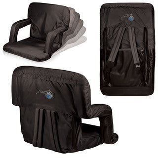 Picnic Time Orlando Magic Ventura Seat Black Polyester and Metal Portable Recliner Chair