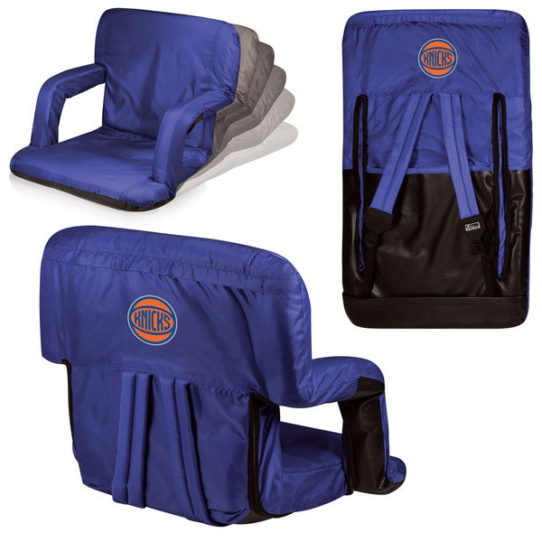 Picnic Time New York Knicks Navy Ventura Seat Portable Recliner Chair