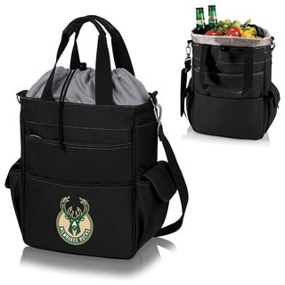 Picnic Time Activo Black Milwaukee Bucks Cooler Tote