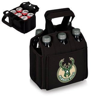Picnic Time Milwaukee Bucks Black Six-pack Beverage Carrier