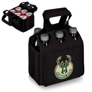 Picnic Time Milwaukee Bucks Black Six-pack Beverage Carrier