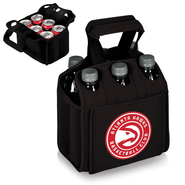 Picnic Time Atlanta Hawks Six-pack Black Rubber Beverage Carrier