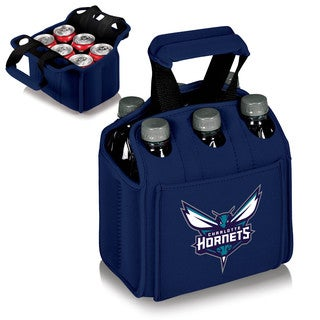 Picnic Time Charlotte Hornets Blue Rubber Six Pack Beverage Carrier