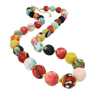 Handmade Kantha Garland Necklace (India)
