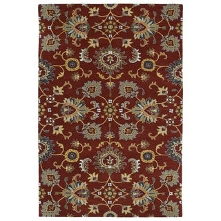 Hand-Tufted Perry Kashan Red Wool Rug (3'0 x 5'0)