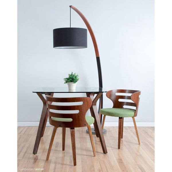 noah midcentury modern floor lamp with walnut wood frame and marble base free shipping today