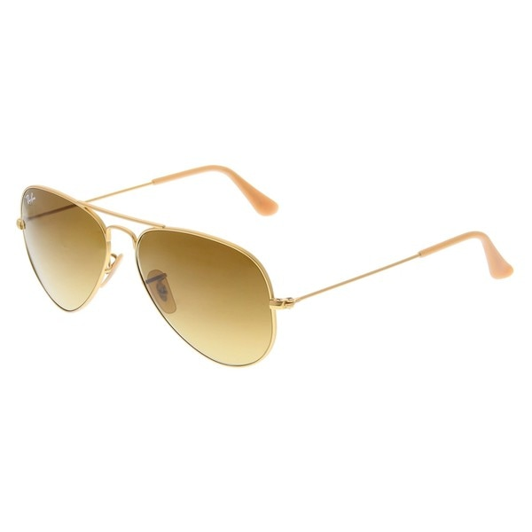 47362870c2 Ray-Ban RB3025 112 85 Aviator Gradient Gold Frame Brown Gradient 55mm Lens  Sunglasses