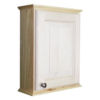 WG Wood Products Ashton Series Unfinished Wood on-the-Wall Cabinet