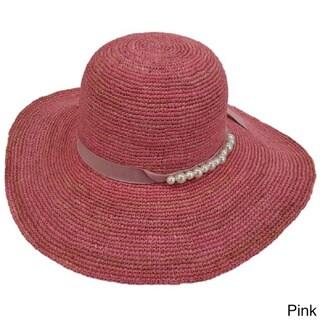 Hatch Hats Floppy Straw Bead-accent Sunhat