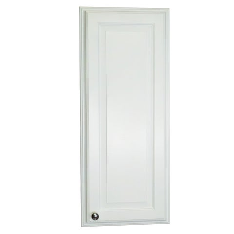 Barbados White Wood 36-inch Recessed Medicine Storage Cabinet with 3 Adjustable Glass Shelves