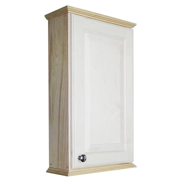 Shop Wg Wood Products Ashton Series Unfinished Wood Wall Cabinet Free