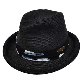 Hatch Hats Black Toyo Paper Floral Band Roll-up Sun Hat