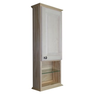 Ashton Series Natural Wood On-the-wall Cabinet