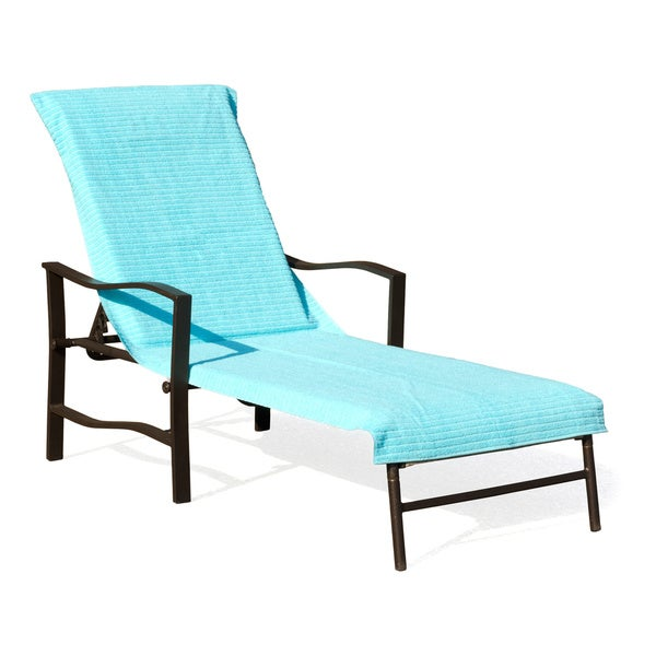 Cambridge towel ribbed chaise lounge chair cover set of 2 for Chaise lounge beach towels