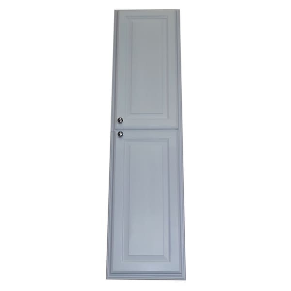 Barbados Recessed White Enamel Finished 60 Inch Pantry Storage Cabinet Free Shipping Today