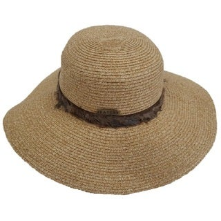 Hatch Women's Gold/Black Toyo Paper Feathered Sunhat