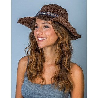 Hatch Hats Women's Cowboy Brown Straw Packable Summer Hat