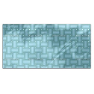 Intertwined Blue Rectangle Tablecloth
